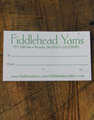 Fiddlehead Yarns Gift Certificate